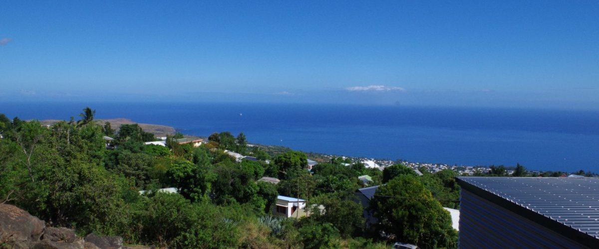 Terrain 648m2 – Vue mer 180° -CREVE COEUR – ST PAUL